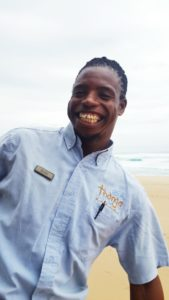 With a smile as big as his heart, you too will fall in love with Bheki Tembe at Thonga Beach Lodge