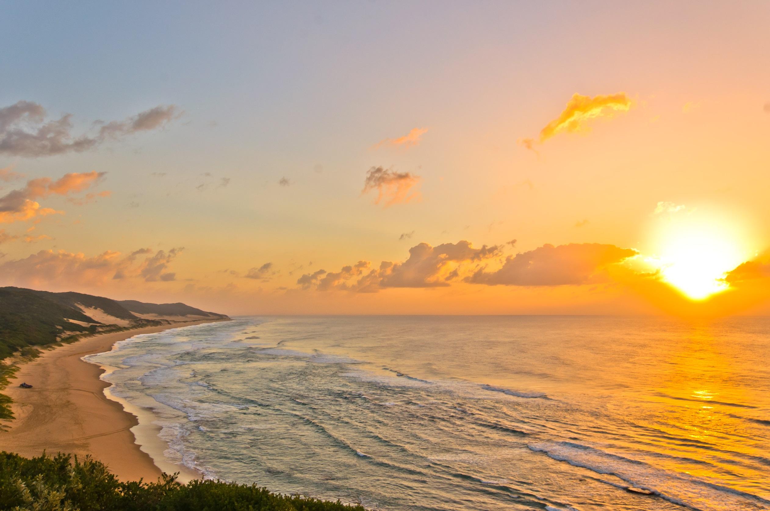 Thonga Beach sunrise - photograph by Carol Moller