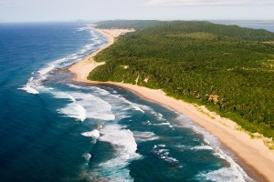 Beach Lodge - Thonga Beach Aerial View