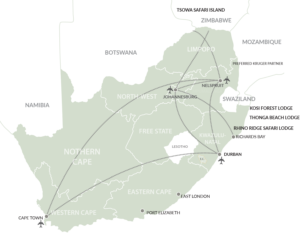 Isibindi Africa Lodges Map