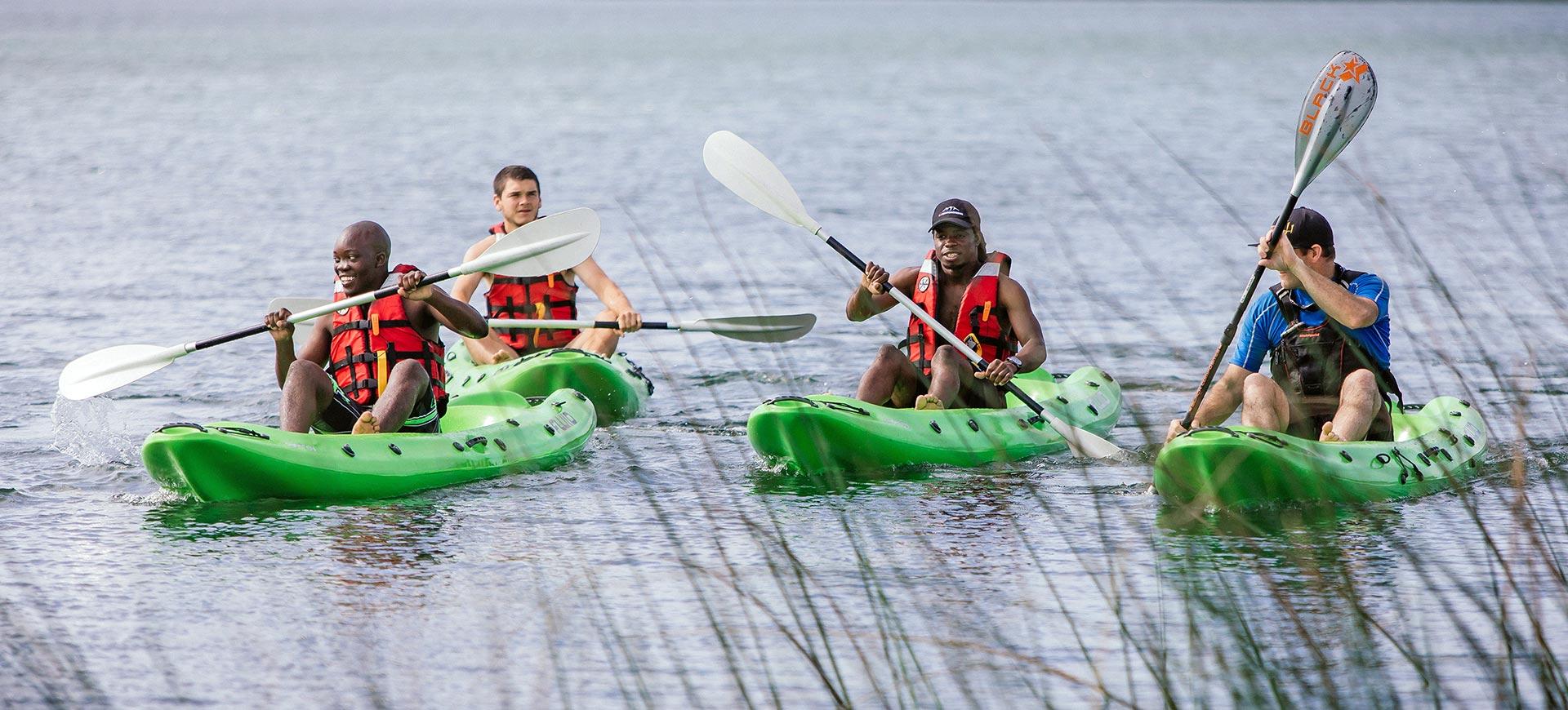 Kayaking on Lake Sibaya - Thonga Beach Lodge