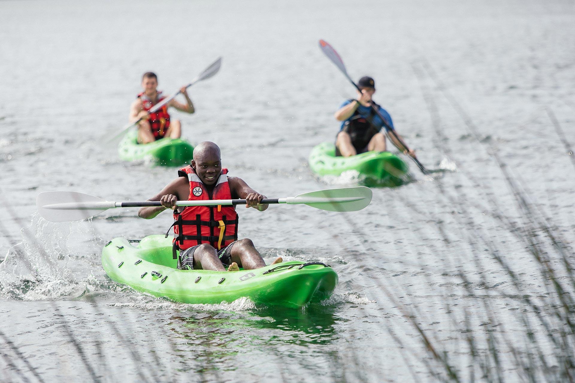 Kayaking at Thonga Beach Lodge