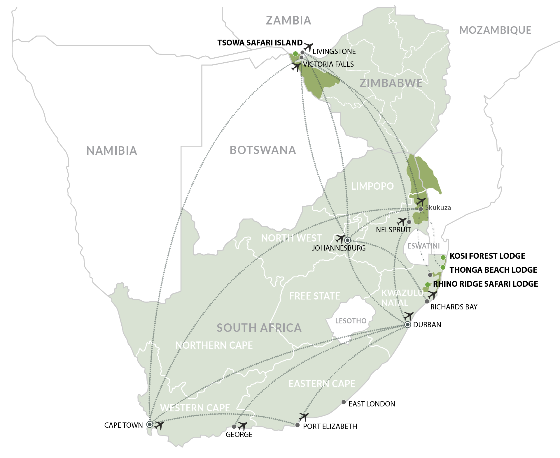 IAL MAPS - Southern Africa_Individual Lodges